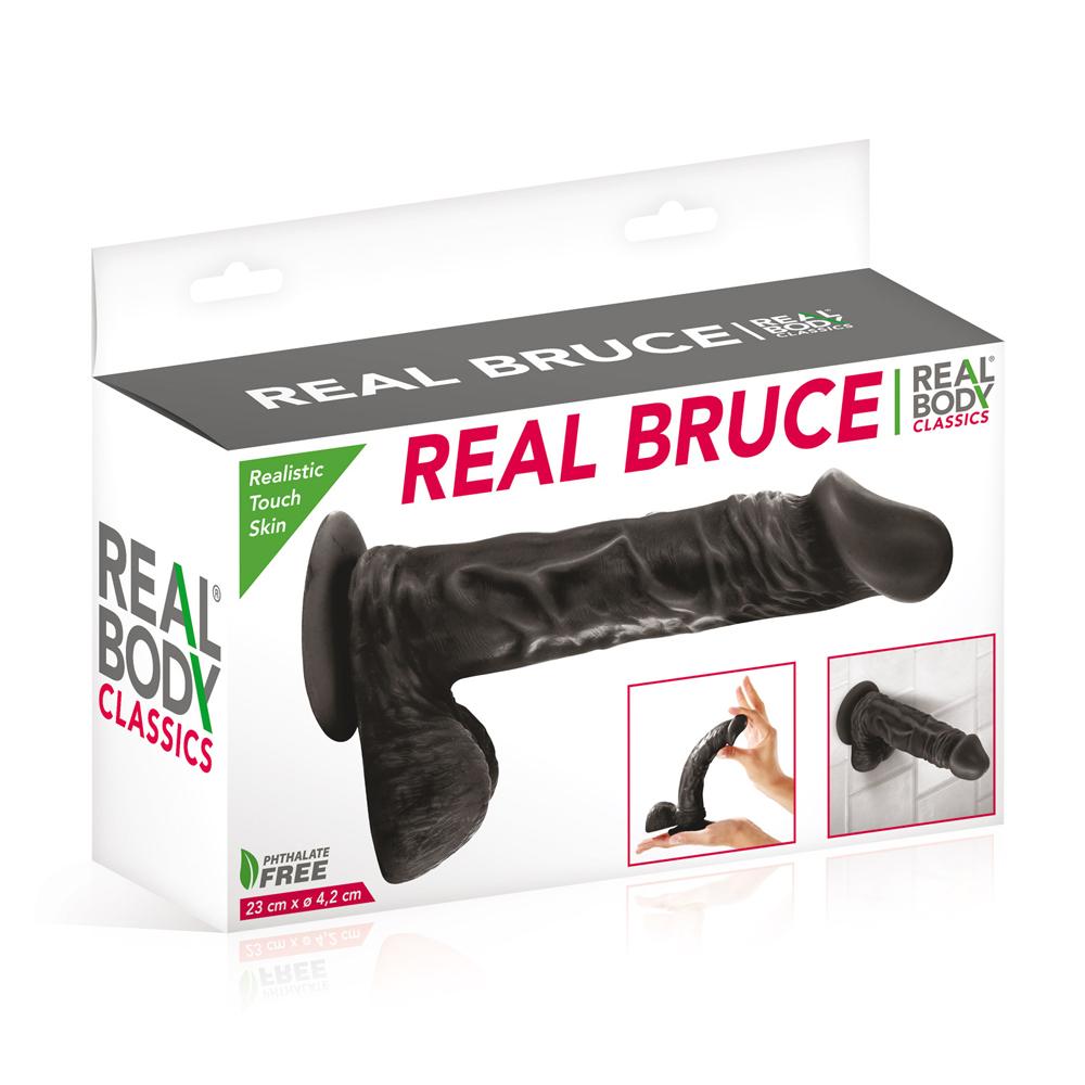 Fabricant de gode ventouse noir réaliste Real body